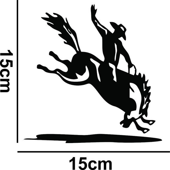 Adesivo Carro Sticker Bomb Cowboy Cavalo Rebaixado Fixa