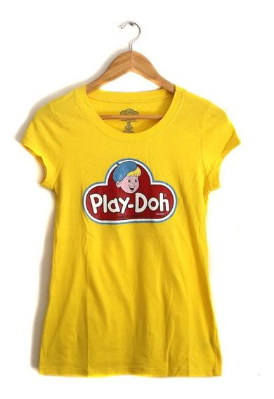 Remera Mujer M Play Doh Logo Retro Toys Original // Sin Uso!