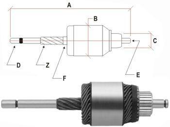 Imagen 1 de 5 de Bobina Arranque Volkswagen Gol/etc. Bosch 1.6