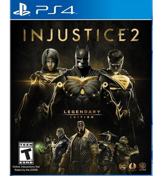 Injustice 2 Legendary Edition Ps4 Mídia Física Novo Original
