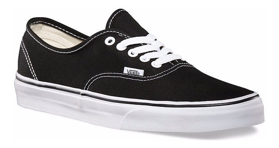 Zapatillas Vans Authentic Lona Negro Blanco 100% Original