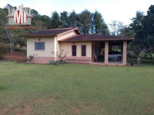 Imagem 1 de 30 de Linda Chácara Com 03 Dormitórios, Terreno Excelente, Plano, Arborizado, Ótima Localização À Venda, 18000 M² Por R$ 590.000 - Rural - Socorro/sp - Ch0540