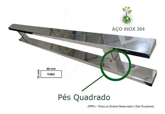 Puxador Aço Inox 1metro - Porta Madeira/vidro - Duplo (par)
