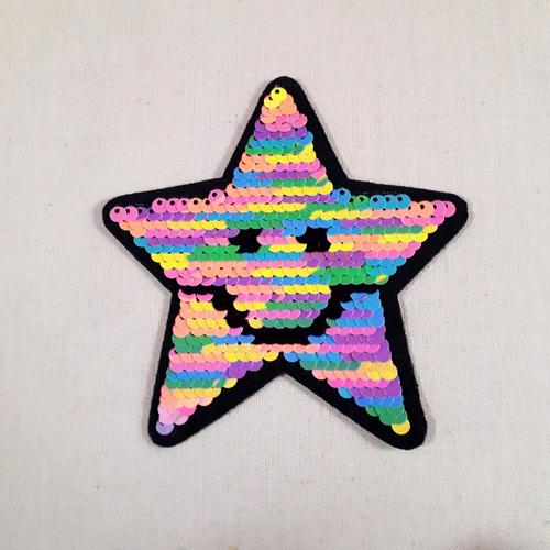 Ack-3337 Aplique Estrella Lentejuela Reversible Por 100unid