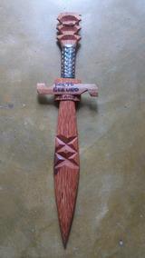 Espada Indígena Artesanal Para Decoração