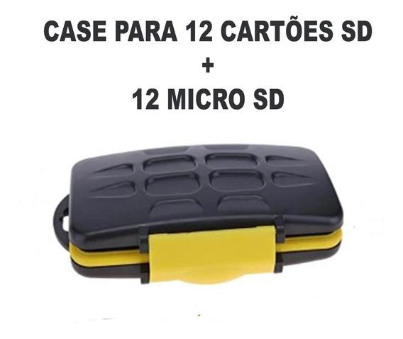 Case Cartão De Mem. P/ 12 Sd E 12 Micro Sd Ama. Frete Grátis