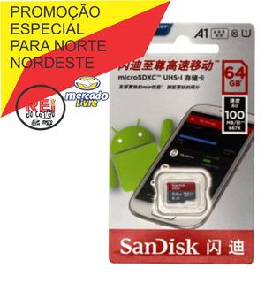 Cartão De Memória 64gb Sandisk 100 Mbs