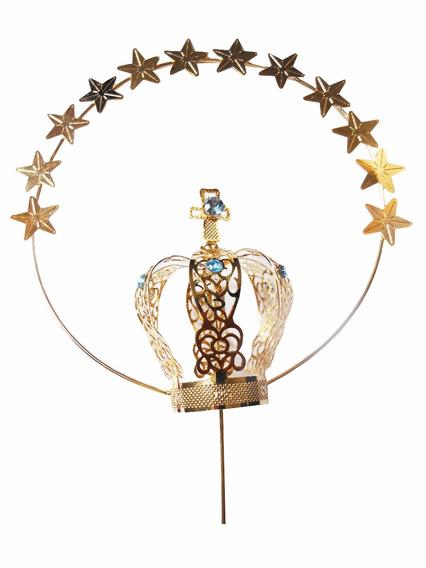 Coroa Para Imagem Nossa Senhora Aparecida Folheada A Ouro