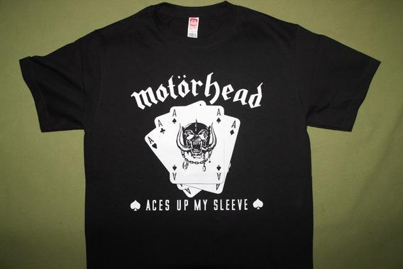 Gusanobass Playera Rock Metal Motorhead Aces Talla X L
