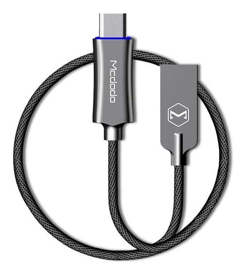 Binden Cable Cargador Knight Series Carga Rápida, Transferencia De Datos Y Auto-desconexión (micro Usb Y Tipo C)