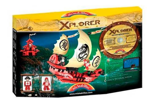 Imagen 1 de 1 de Bloques Barco Pirata Xplorer 275 Pz Original Mis Ladrillos