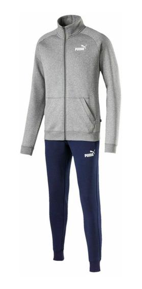 Puma Conjunto Running Hombre Clean Sweat Gris - Azul