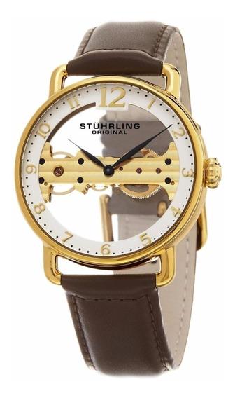 Reloj Hombre 976.03 Correa Cuero Marron Stuhrling