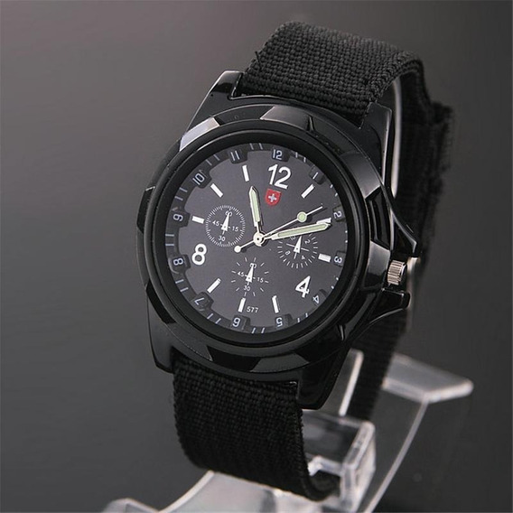 Relógio Masculino Soldado Militar Pulseira Nylon Barato