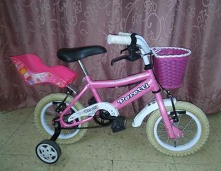 Bicicleta Nena Bmx - Peretti, Rod 12, Con Sillita Y Canasto