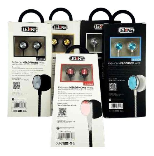 10 Fone De Ouvido Com Microfone Stereo Bass Le-0209 Lelong