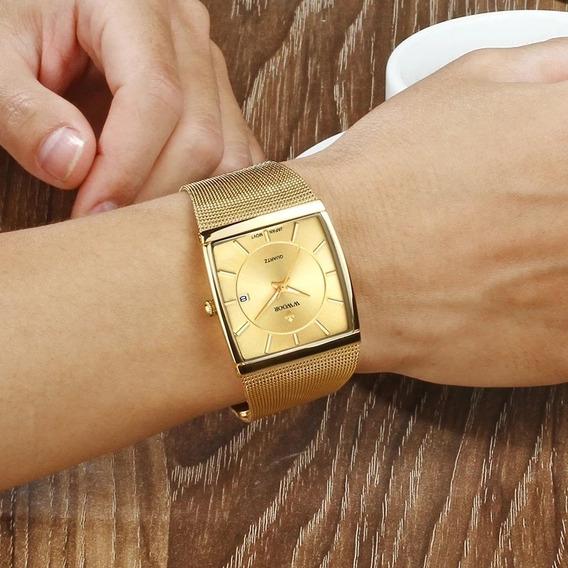 Relógio Masculino Quadrado De Luxo Na Caixa Original
