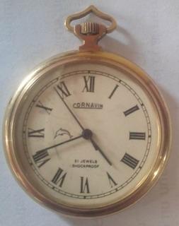 Antiguo Reloj Cornavin De Bolsillo De Oro