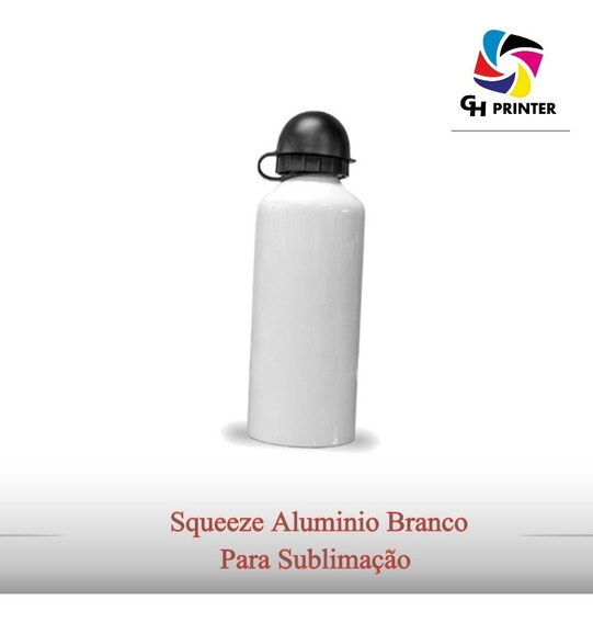 Squeeze Aluminio Branco P/ Sublimação 500ml 10 Unidades