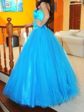 c7a143e1f Enaguas Rectas - Vestidos de 15 de Mujer Azul en Mercado Libre Argentina