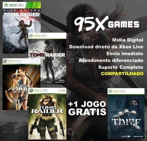 Midia Digital Xbox 360 - Combo Tomb Raider