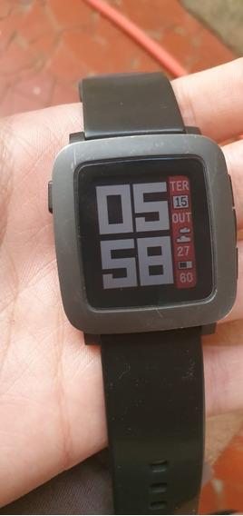 Relógio Pebble Time Completo Na Caixa Conservado
