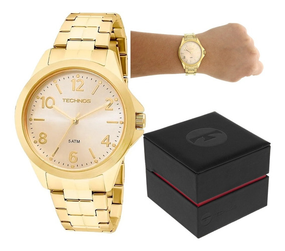 Relógio Technos Analógico 2035mek/4x - Dourado Nf-e+garantia