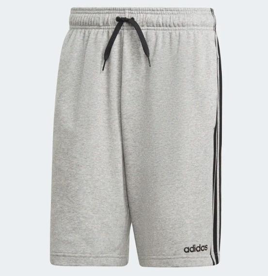 Bermuda Moletom adidas Shorts Essentials 3 Stripes Original