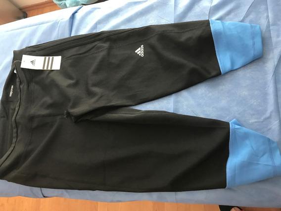 Dos Leggins adidas Azul Y Negro Talla Grande