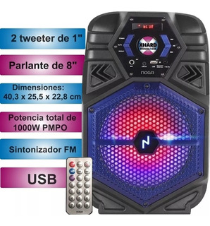 Parlante Portátil Inalámbrico Bt Con Karaoke Ng-bt800