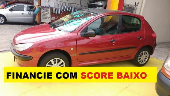 Peugeot 206 Completo 4 Portas Financiamento Com Score Baixo