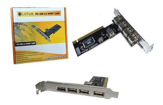 Placa Usb 2.0 Pci 4 Saidas Pc0003 - Lotus