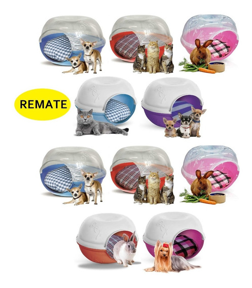 Remate Lote 10 Casas Camas Perro Gato Plast Pet Cave C/envío