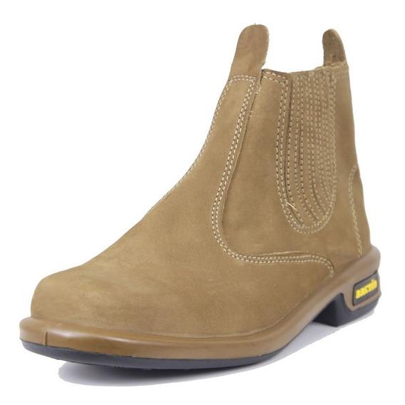 Botina Em Couro Bretão Boots Injetada Bq Lançamento Ref.3250