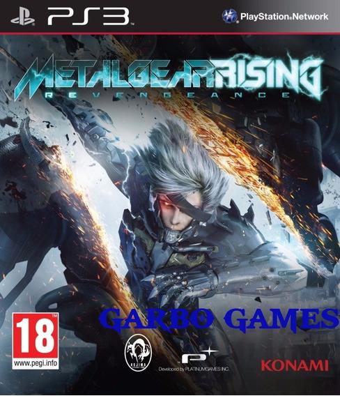 Jogo De Ps3 Metal Gear Rising Em Mídia Digital