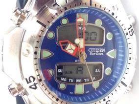 Relogio Atlantis Mod Jp1060 Aqualand Azul Borracha =citzen