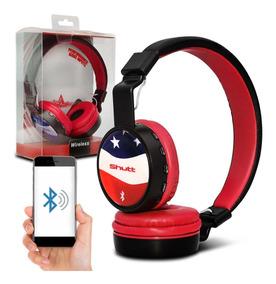 Fone De Ouvido Headphone Eua Wireless Preto Vermelho Shutt
