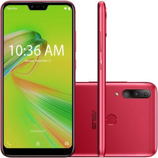 Celular Asus Zenfone Max Shot Vermelho 64gb Tela 6.2 Ram 4gb