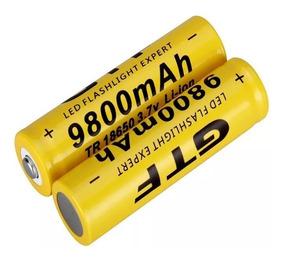 Bateria Recarregável Gtf 18650 3.7v 9800 Mah - 2 Unidades