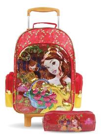 Mochilete + Estojo Material Escolar Promoção Bela Princesas