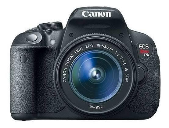 Câmera Canon Eos T5i + Lente 18-55mm+ 1 Bateria Extra Orig.
