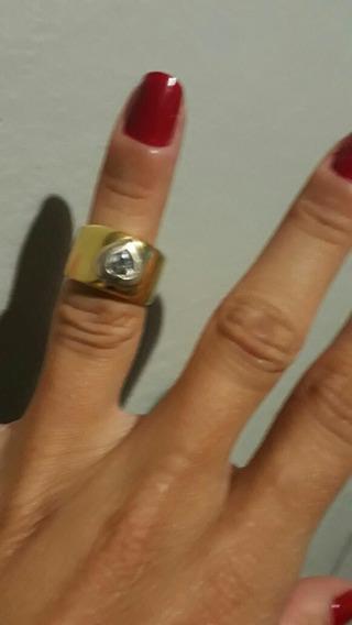 Anel Em Ouro 24k Com 7.2 Gramas. Com Pedra Em Forma De Corac