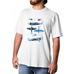 Camiseta Republic P-47 Razoback Tam Gg Aero Tshirt