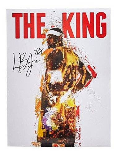 Lebron James Poster El Rey Cleveland Cavaliers 23 Color His