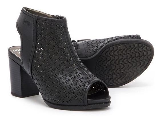 Botin Despuntado Sandalia Zapato Onena Juve 2182 Negro Dama