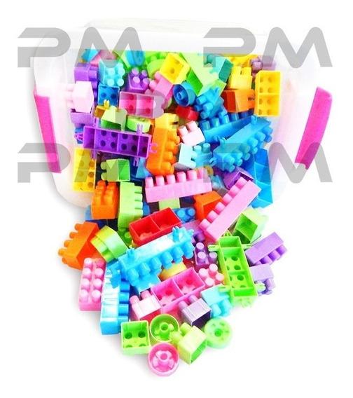 Maletin Legos Cubos Bloques 150 Piezas Colores Juguete Tacos