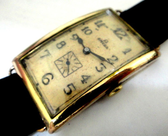 Relógio Omega Banana 52mm X 29mm A Corda Assinado