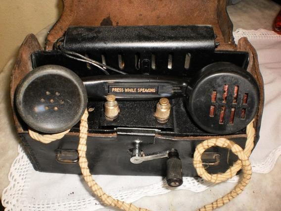 Antigo Telefone De Campo.2º Guerra. Lindo E Grande