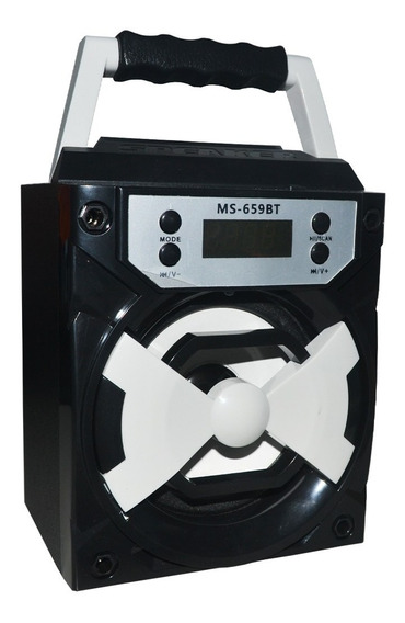 Corneta Bluetooth Radio Portatil Recargable Usb/blue/tf
