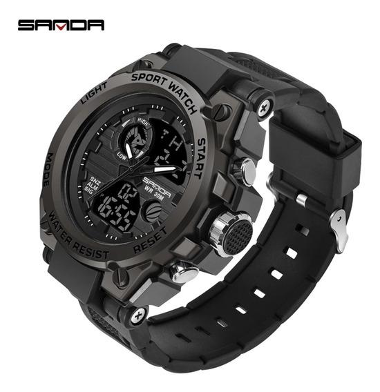 Relógio Masculino Sanda Esportivo Militar Original!! - Preto